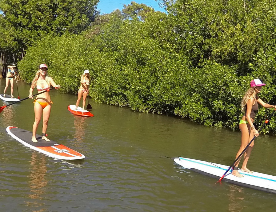 Kayaking And Stand Up Paddle Boarding On The North Shore