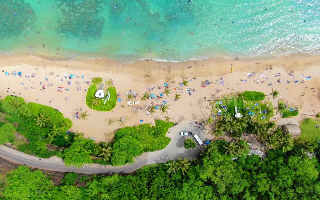 Hanauma Bay State Park Beach Aerial View